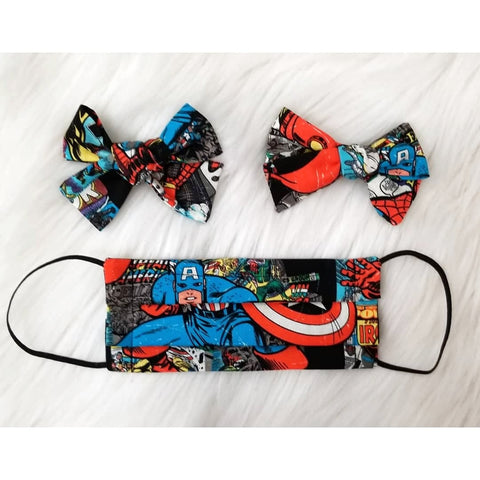 Marvel Mask & Bow Set