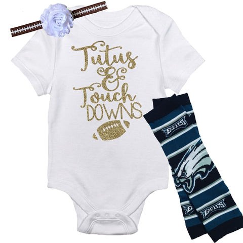 Eagles Baby Outfit - Peachy Keen Boutique