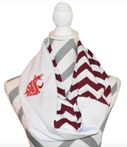 Cougars WSU Scarf - Peachy Keen Boutique