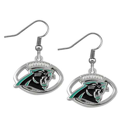 Panthers Earrings - Peachy Keen Boutique