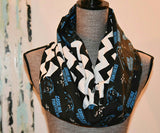Panthers Scarf - Peachy Keen Boutique