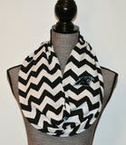 Carolina Panthers Reversible Infinity Scarf - Peachy Keen Boutique