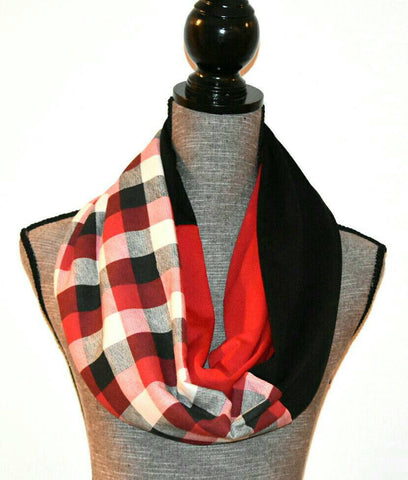 Plaid Infinity Scarf - Peachy Keen Boutique