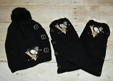 Penguins Leg Warmers and Beanie - Peachy Keen Boutique