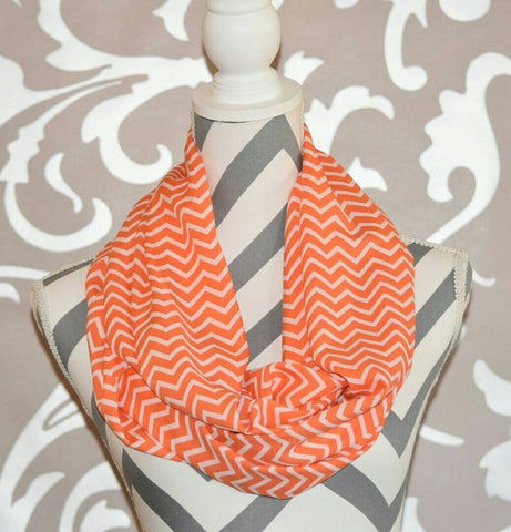 Coral Chevron Scarf - Peachy Keen Boutique