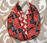 Washington Capitals Scarf NHL Capitals Team Fabric Chevron Print - Peachy Keen Boutique