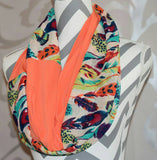 Multi Color Feather Scarf - Peachy Keen Boutique