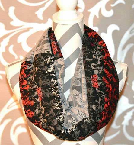 Zombies and Lace Scarf - Peachy Keen Boutique