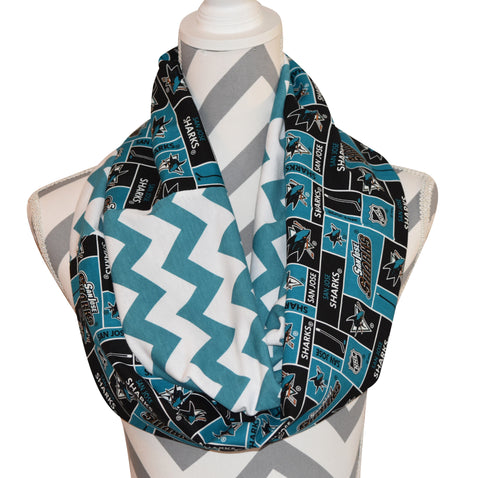 San Jose Sharks Scarf - Peachy Keen Boutique