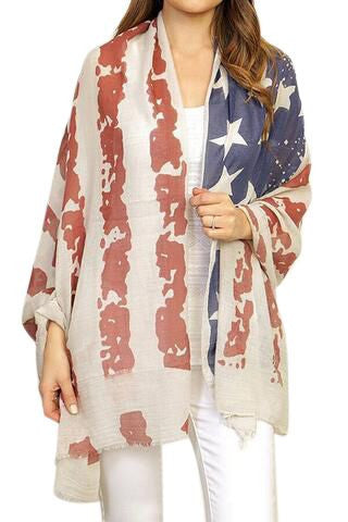 American Flag Shawl - Peachy Keen Boutique