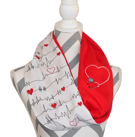 Nurse Reversible Scarf - Peachy Keen Boutique