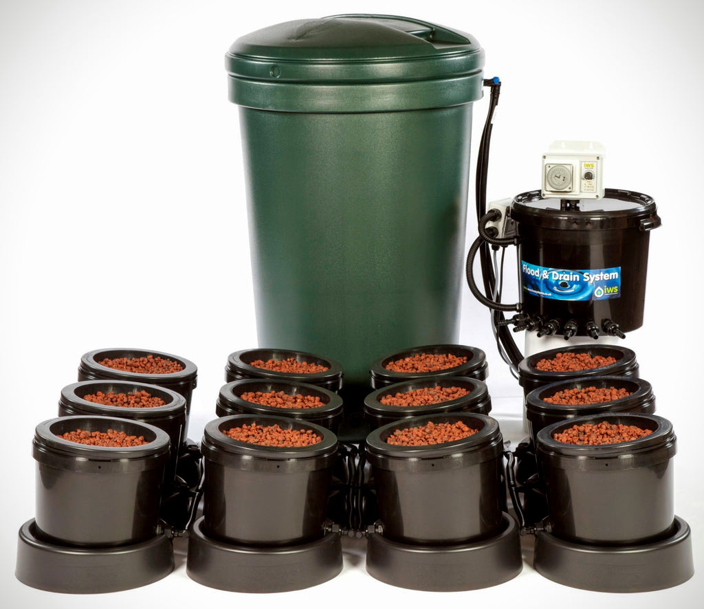 IWS Flood & Drain 12 Pot System