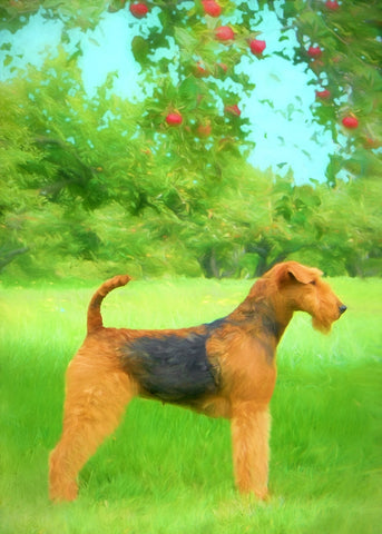 "Airedale Terrier - ""Under the Apple Tree"" (Design 111)"