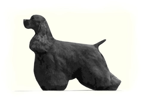 "American Cocker Spaniel - ""Black Stack"" (Design 020)"