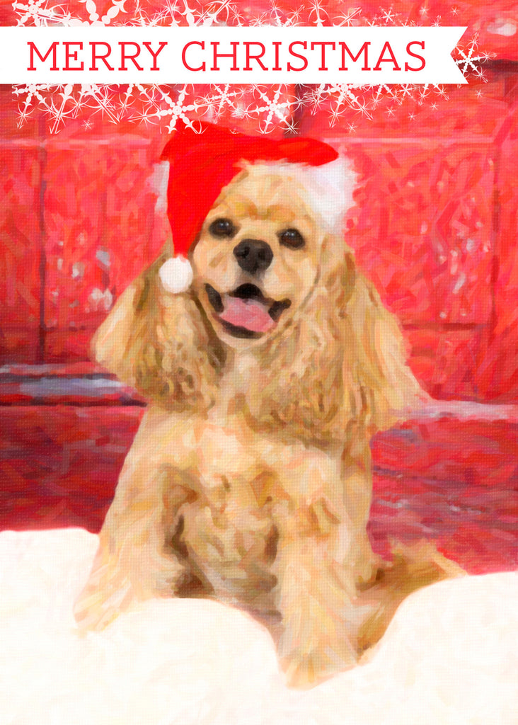 "American Cocker Spaniel Christmas - ""At the Door"" (Design X008)"