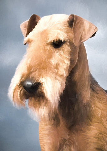 "Airedale Terrier - ""Head Study"" (Design 110)"