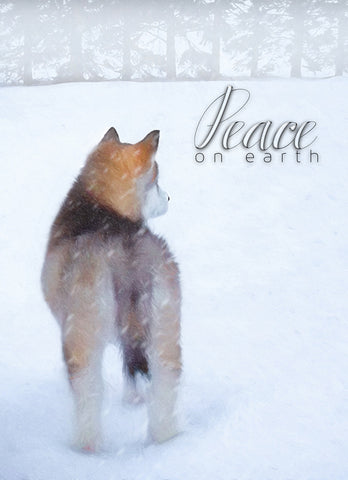 "Alaskan Malamute - ""Peace on Earth"" (Design X067)"
