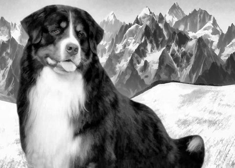 "Bernese Mountain Dog Christmas - ""Mountain View"" (Design X040)"
