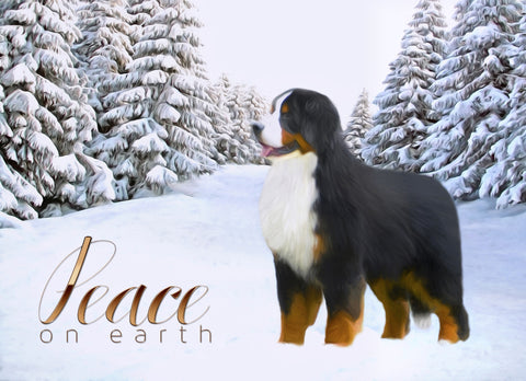 "Bernese Mountain Dog Christmas - ""Winter Wonderland"" (Design 093)"