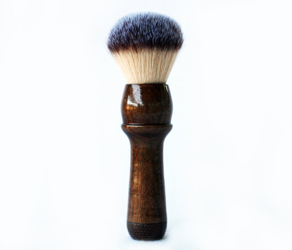 Walnut Long Handle Plisson shave Brush - CreationsByWill