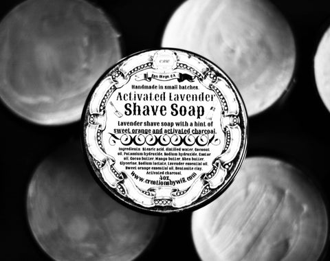 Activated Lavender Vegan Shave Soap