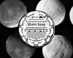 Activated Lavender Vegan Shave Soap - CreationsByWill