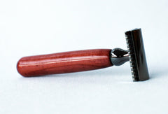 Red Cedar Double Edge Razor with Gunmetal - CreationsByWill