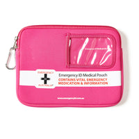 Medical Emergency ID Pouch - Pink - Medium 11101009