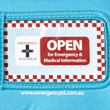 Medical Emergency ID Pouch - Blue - Small 11101015