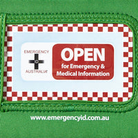 Medical Emergency ID Pouch - Green - Small 11101019