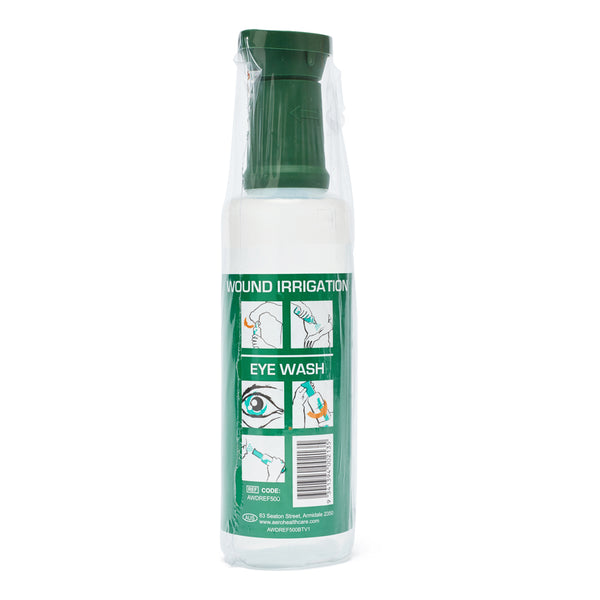 Eyewash Saline with Eye Cup 500ml 10602005