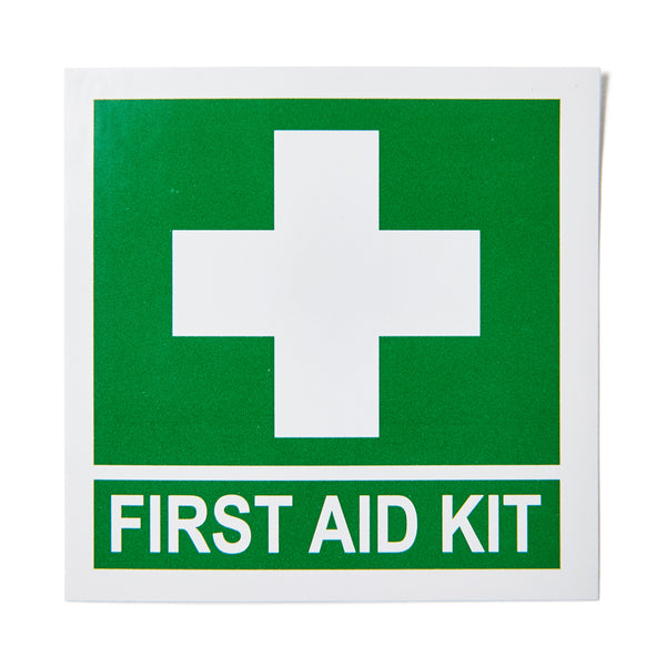 First Aid Kit Sticker with Cross 13cm x 13cm 11101062