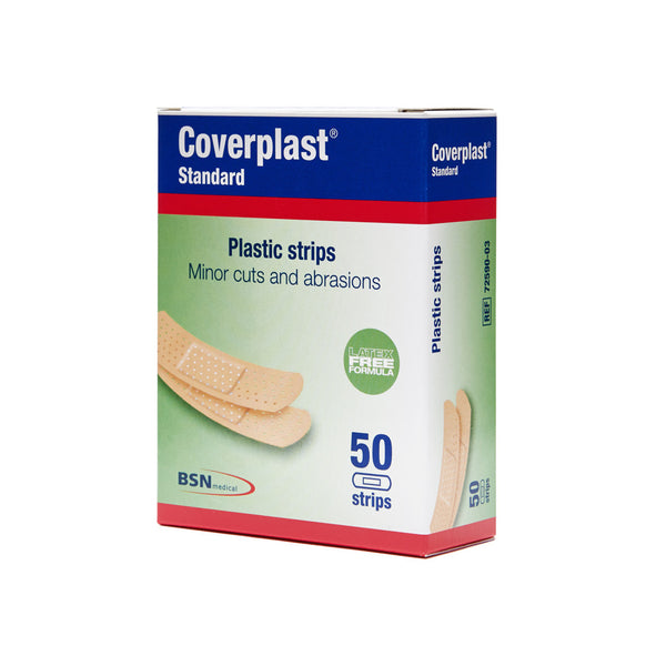 Coverplast Plastic Dressing Strips 1.9cm x 7.2cm 50 Box - Wide - Student First Aid
