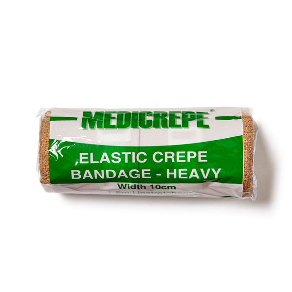 Elastic Crepe Bandage Heavy 10cm x 1.5m - Wide - Student First Aid