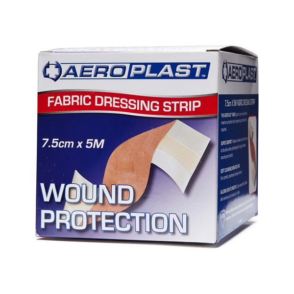 Fabric Dressing Strip 7.5cm x 5m - Wide - Student First Aid