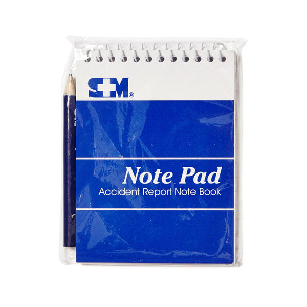First Aid Note Pad With Pencil - Wide - Student First Aid
