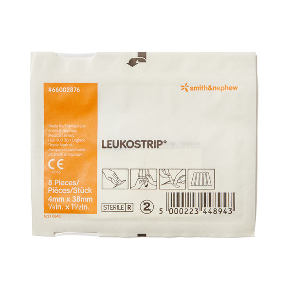 Leukostrip Wound Closure Strips 0.4cm x 3.8cm 8 Pack - Wide - Student First Aid