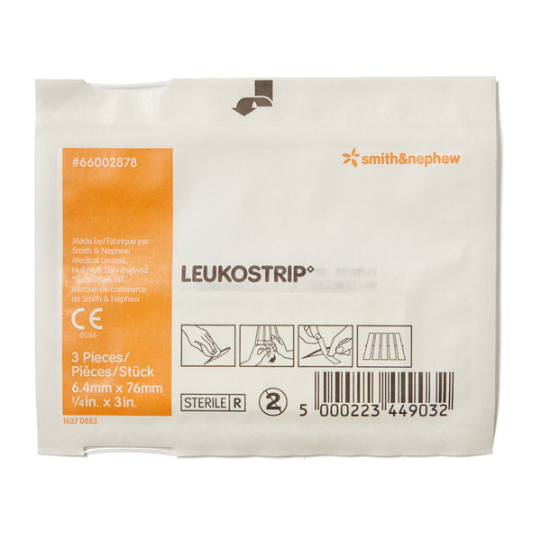 Leukostrip Wound Closure Strips 0.64cm x 7.6cm 3 Pack - Wide - Student First Aid