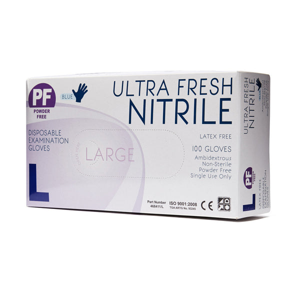Nitrile Gloves Disposable Large 100 Box - Wide - Student First Aid