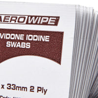 Povidone Iodine Swabs 6cm x 3.3cm 100 Box - Close - Student First Aid