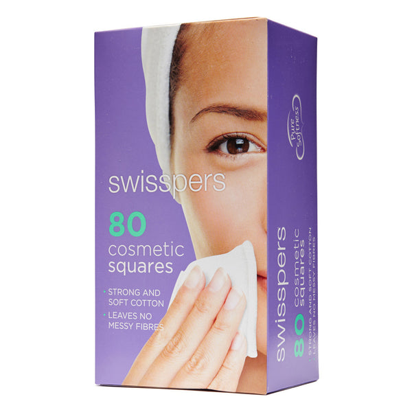 Swisspers Cotton Square Pads 80 Box - Wide - Student First Aid
