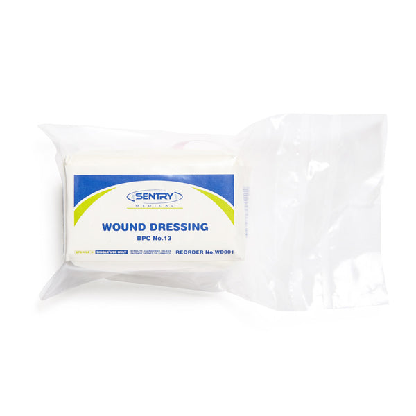 Wound Dressing No.13 Small 8cm x 9cm - Wide - Student First Aid