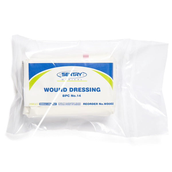 Wound Dressing No.14 Medium 14cm x 10cm - Wide - Student First Aid