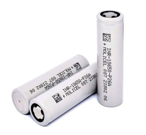 Molicel P26A 18650 2600mAh 35A (Flat Top High Drain Battery)