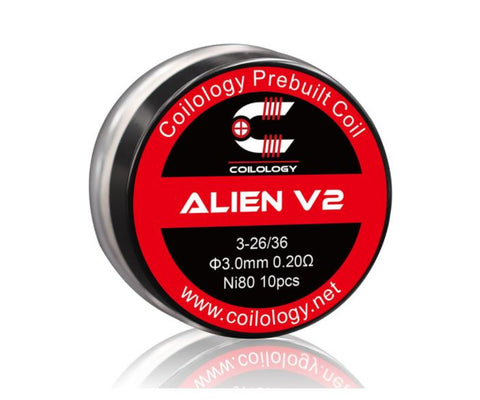 Coilology Alien V2 Coil Ni80 3*26/36Ga 3mm (10pcs/pack)