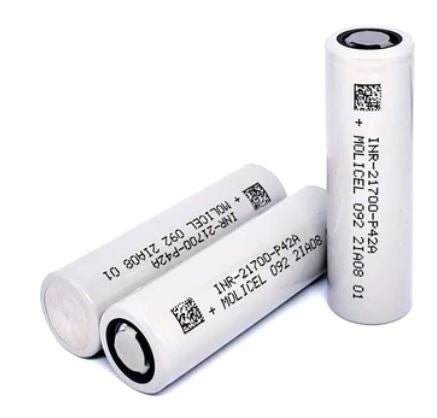 Molicel 21700 P42A 4200mAh 45A (Flat Top High Drain Battery)