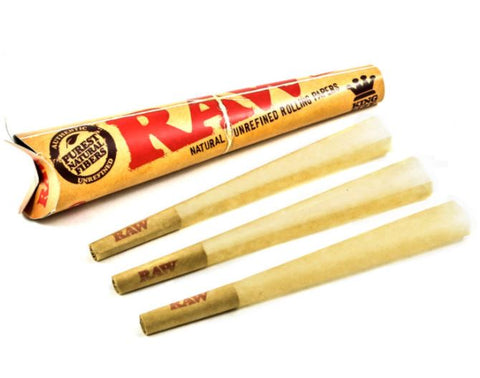 RAW ORGANIC CONES KING SIZE 3-PACK