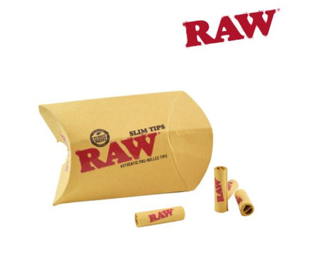 RAW SLIM PRE-ROLLED UNBLEACHED TIPS