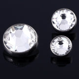 10pcs/lot G23 Titanium Micro Dermal Piercings Dermal Anchor Top Piercings Skin Diver Crystal Top Piercing