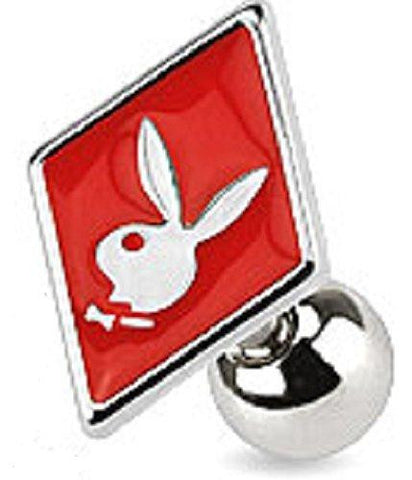 Card Suit Symbols with Playboy Bunny 316L Surgical Steel Cartilage/Tragus Bar...